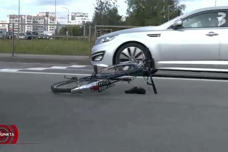ДТП на Лубанас: под колесами машины оказался ехавший на зеленый велосипедист