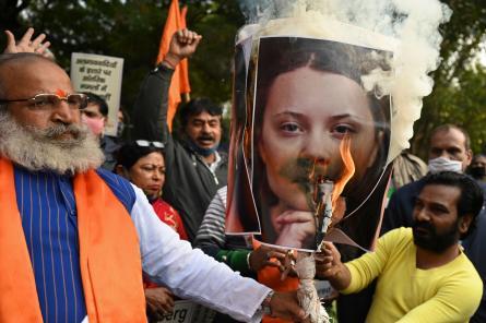 Аккуратнее с методичками! В Индии Грету Тунберг обвинили в разжигании протестов