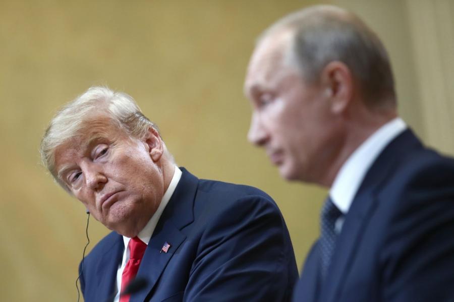 Два президента— американский (слева) ироссийский (справа).
