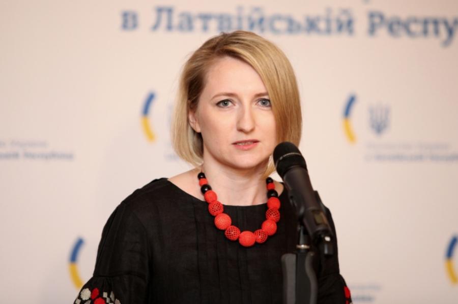 Временный поверенный вделах Украины вЛатвии Алиса Подоляк, фото LETA