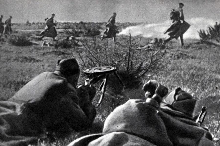 Бои заосвобождение Риги отнацистов (октябрь 1944года). Архивное фото.