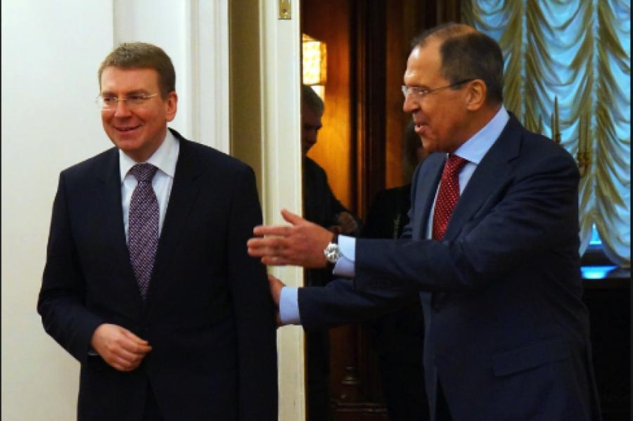 Эдгар Ринкевич иСергей Лавров, фото МИДРФ