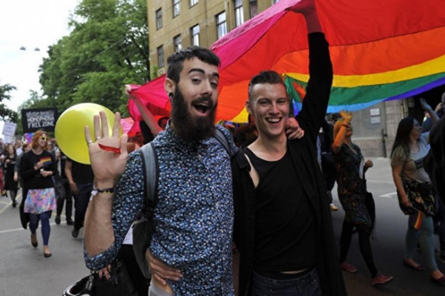 Иллюстративное фото, гей-парад вБалтии, снимок: LETA