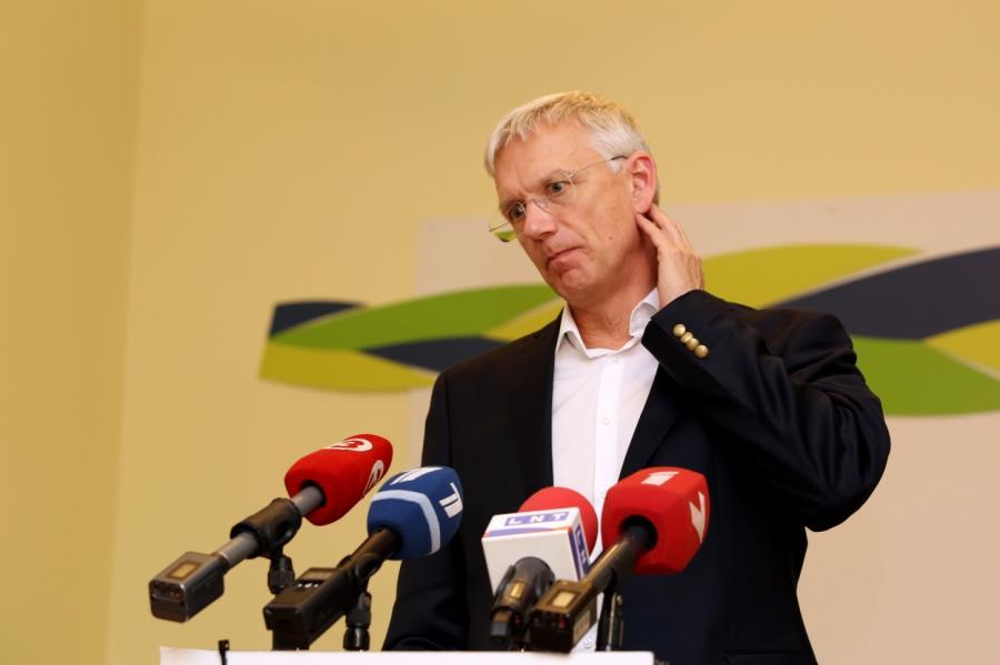 Латвийский премьер-министр Кариньш, фото LETA