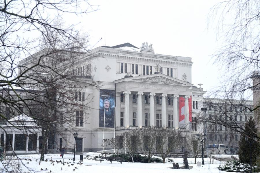 Здание латвийской национальной Оперы в Риге, фото LETA