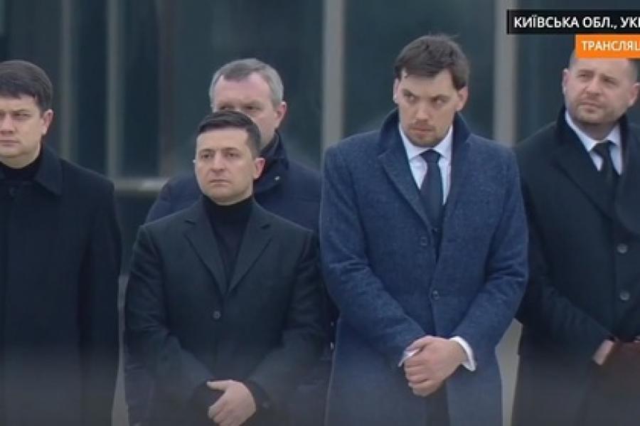 Владимир Зеленский и Алексей Гончарук Кадр: «Громадське»