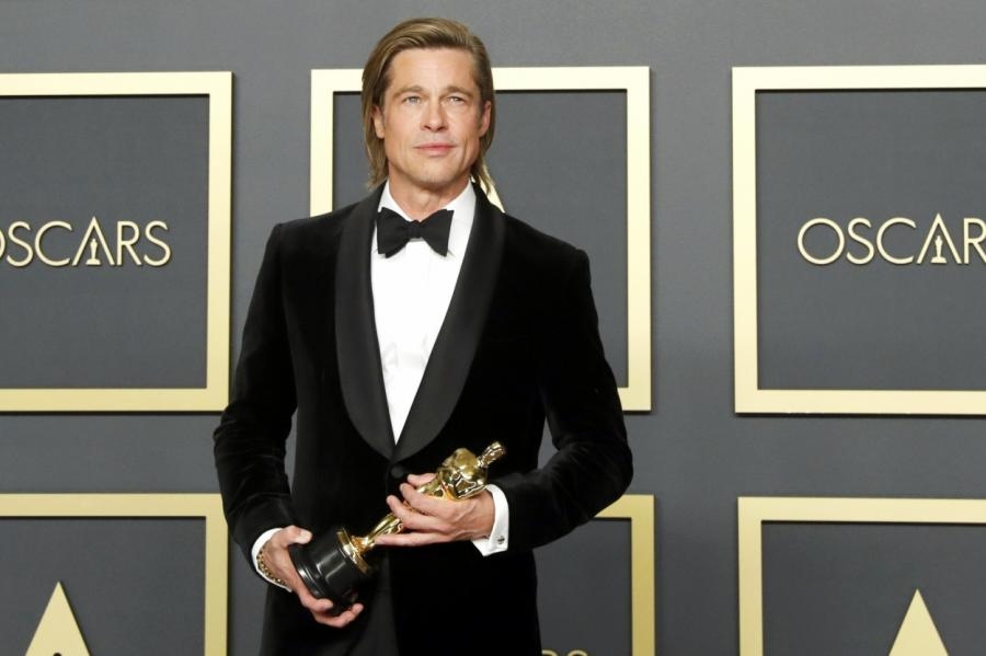 "Брэд Питт на церемонии ""Оскар-2020""."