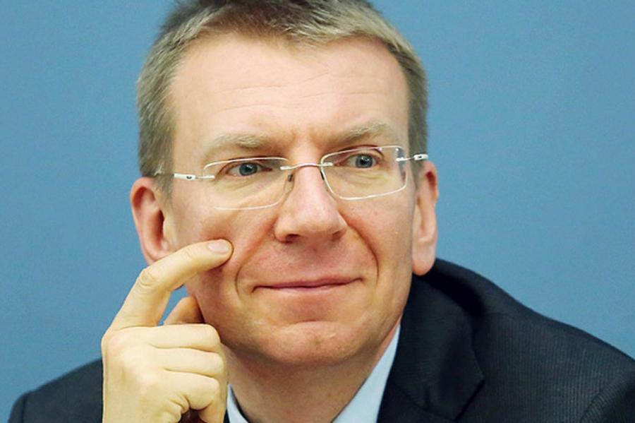 Глава латвийского МИДа Эдгар Ринкевич, фото LETA