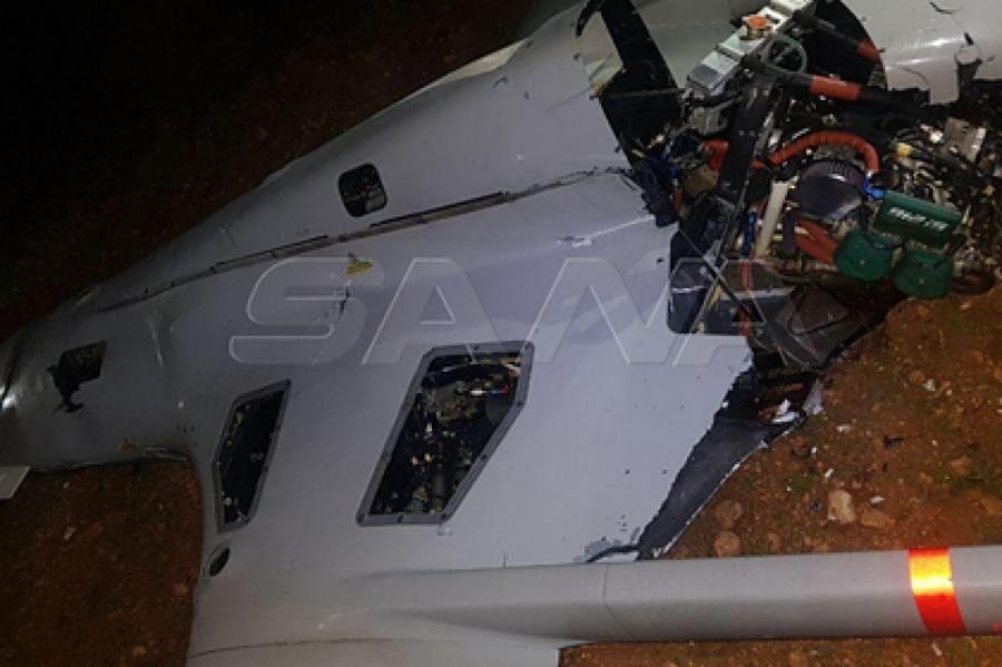 Один из БПЛА Bayraktar TB2, сбитых сирийскими военными Фото: SANA