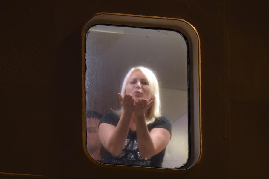 """Проверка парома """"Таллинк"""" с репатриантами в Рижском порту, иллюстративное фото, LETA"""