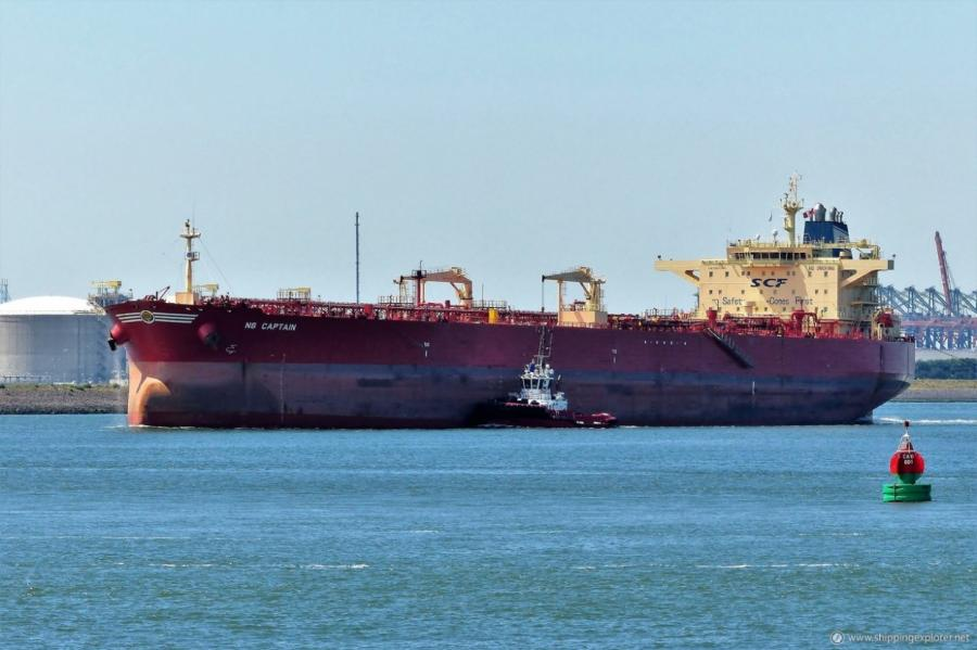 На этом танкере нефть из США была доставлено до берегов Прибалтики.