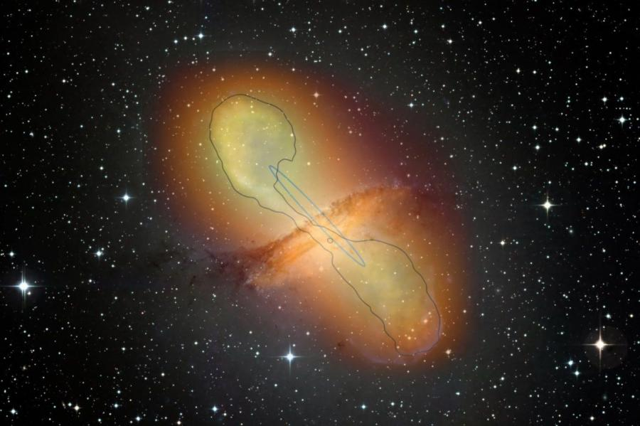 ESO / WFI (Optical); MPIfR / ESO / APEX / A.Weiss et al. (Submillimetre); NASA / CXC / CfA / R.Kraft et al. (X-ray), H.E.S.S. collaboration (Gamma)