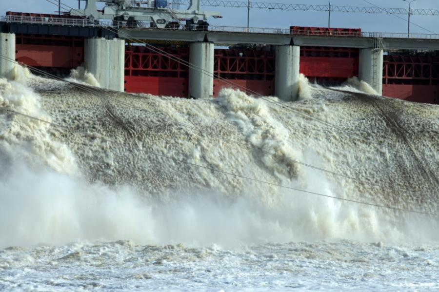 Плявиньская ГЭС.