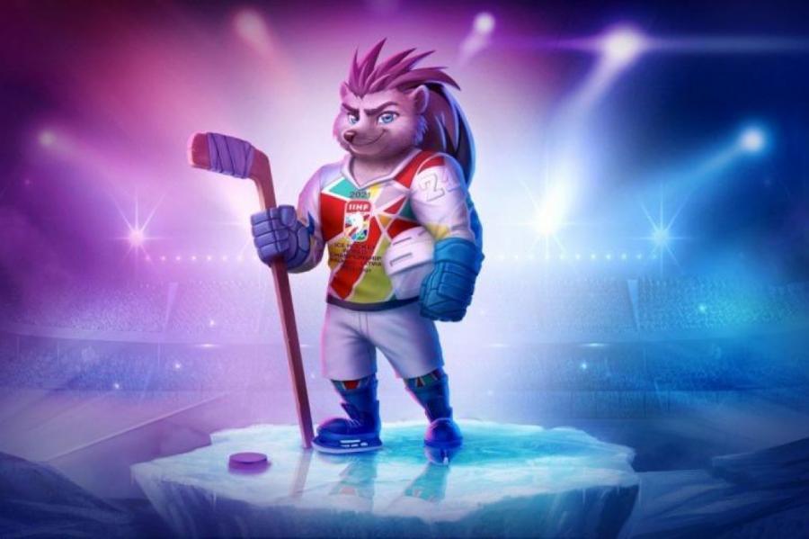 Ёж с клюшкой - талисман ЧМ по хоккею, который пройдет в Риге менее через год.