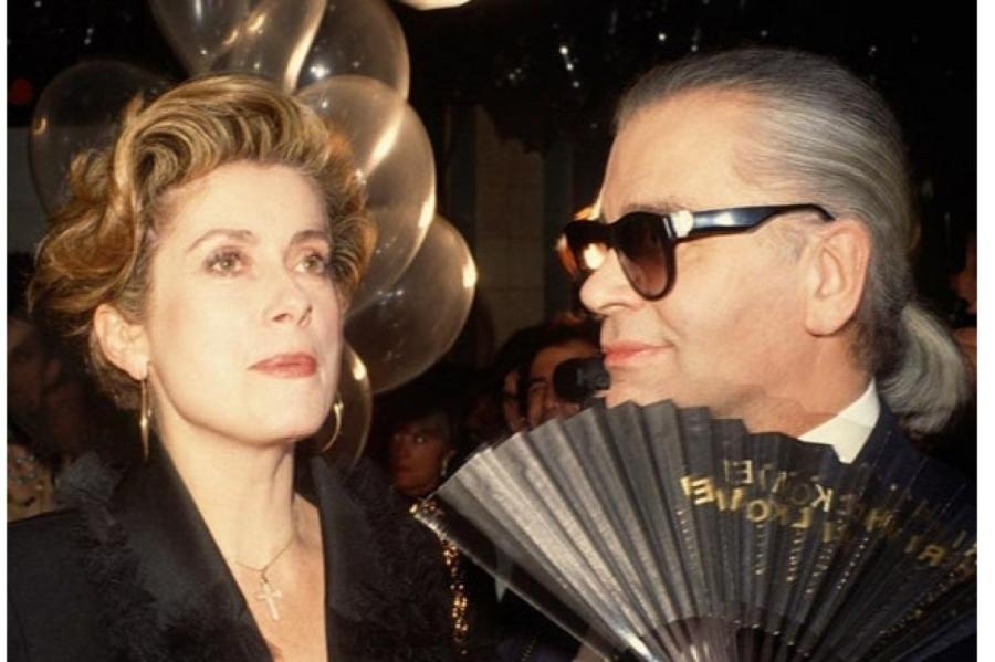 Карл Лагерфельд и Катрин Денев, 1990   Фото: Getty Images