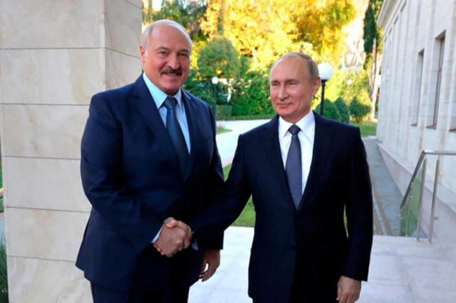 Владимир Путин и Александр Лукашенко. Фото: President of Russia/via Globallookpress.com/www.globallookpress.com