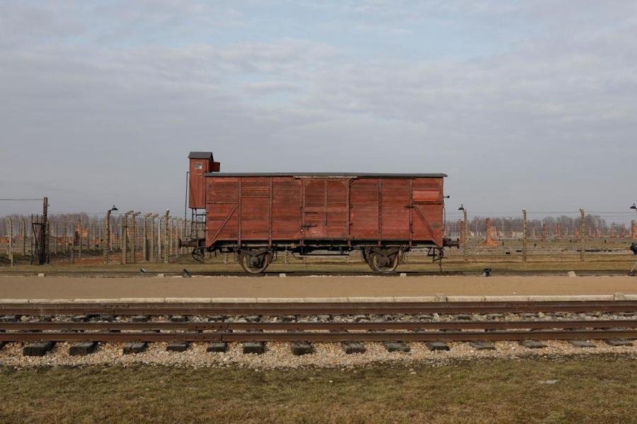 Концлагерь в Освенциме.