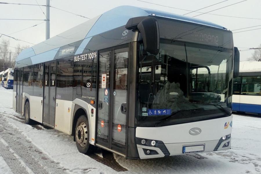 Так выглядит автобус, который передвигается на водороде.