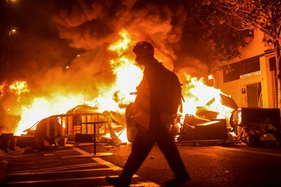 Беспорядки в Барселоне.
