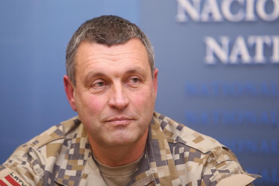 Командующий Латвийской армией орденоносец Леонид Калниньш.
