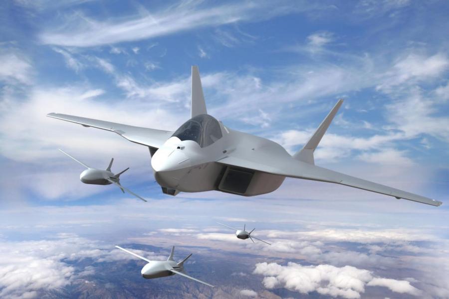 Европейская боевая платформа FCAS станет базой дронов, управляемых искусственным интеллектом. Если ее построят через четверть века! Фото Airbus.