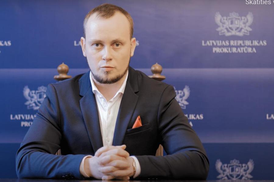 Улдис Цинкманис. Скриншот видео.