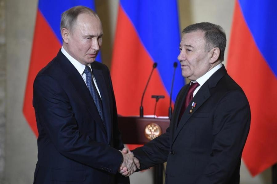 Путин и Аркадий Ротенберг.