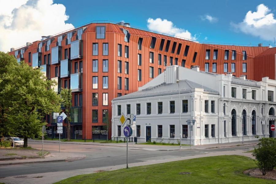 квартал Lofts&Rosegold, фасады исторического и нового зданий Lofts&Rosegold