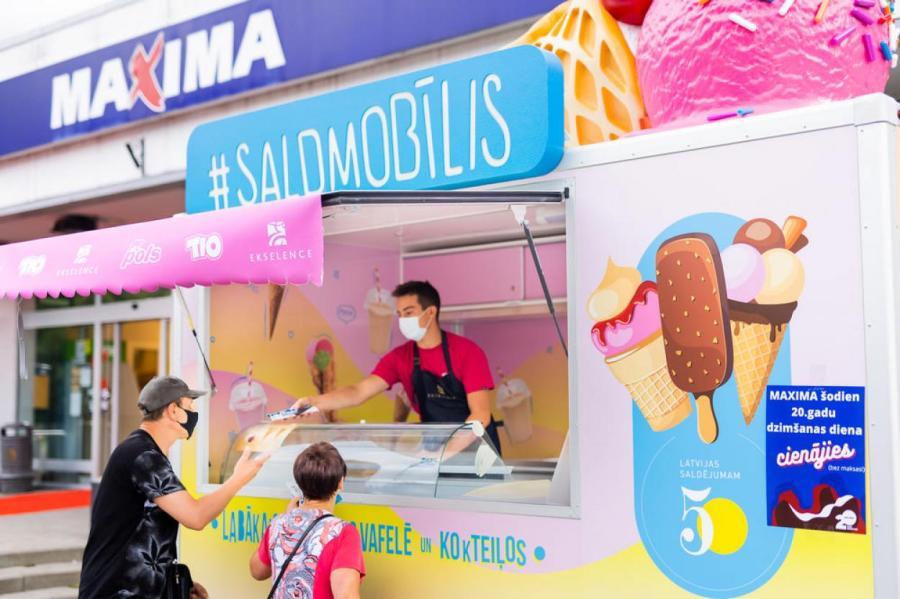 В честь 20-летнего юбилея Maxima Latvija – бесплатное мороженое всем желающим!