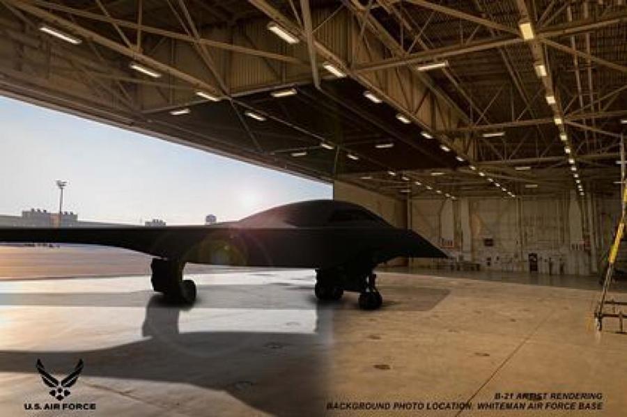 Рендерное изображение B-21 Фото: @defpostmedia / Twitter