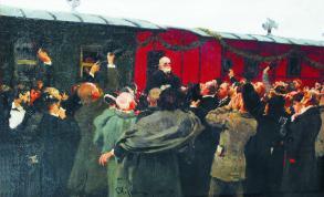 Приезд Николая Ивановича Пирогова в Москву на юбилей по поводу 50-летия его научной деятельности 22 мая 1881 года. И.Е. Репин.