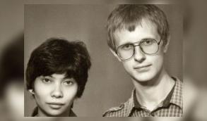 Дмитрий Пучков и его жена Наталья в молодости.