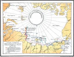 Схема плавания экспедиции 1913 года.