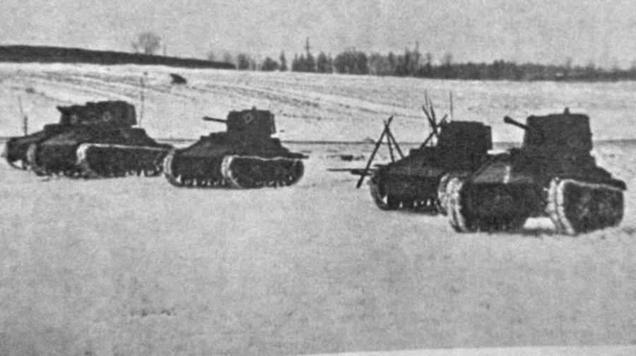 Латвийская армия усиленно изучала опыт зимней войны вФинляндии.