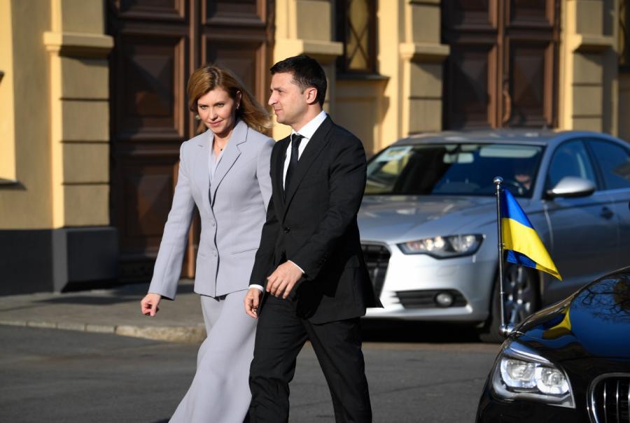 Владимир Зеленский иего супруга Алена вРиге (фото— Канцелярия президентаЛР),