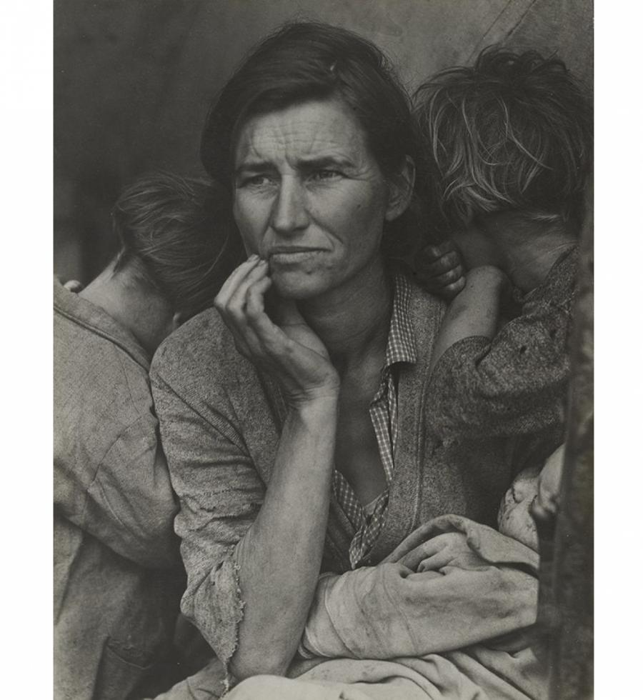 Доротея Лэнг. Migrant Mother, Nipomo, California. Март 1936  © The Museum of Modern Art, New York