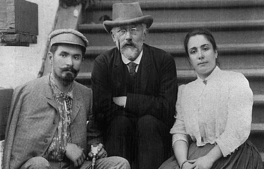 Чайковский, Фигнер и его жена Медея.