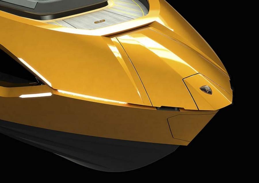 Дизайн яхты повторяет черты спорткаров Lamborghini ПРЕСС-СЛУЖБА
