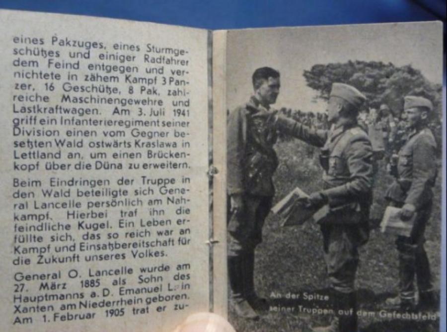 Страницы из книги о генерал-лейтенанте Отто Ланселе (Ланцелле) из серии «Герои Вермахта», https://www.bunkermilitaria.com
