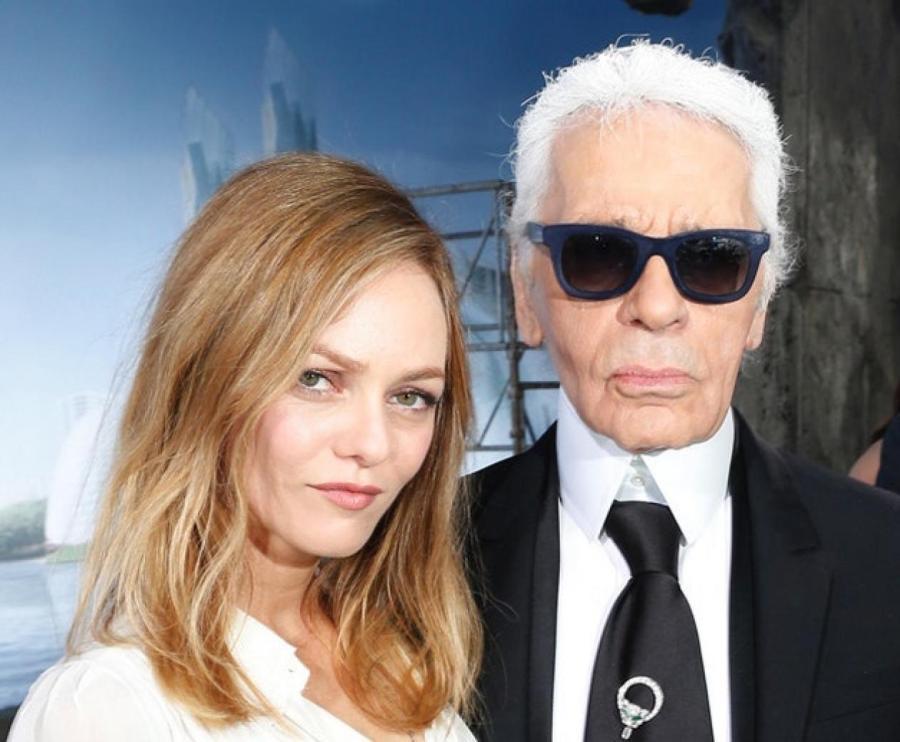 Ванесса Паради и Карл Лагерфельд, 2000-e  Фото: Getty Images