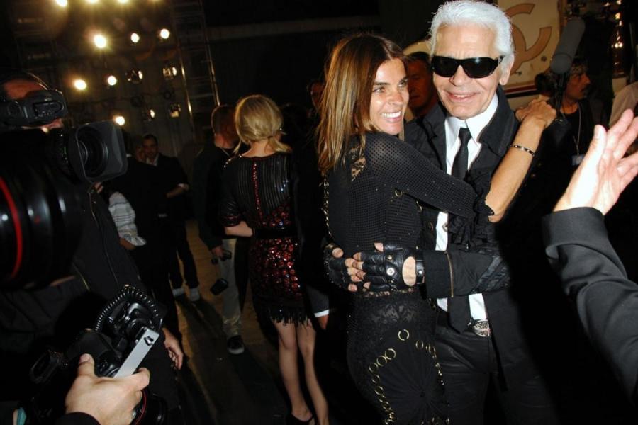 Карл Лагерфельд и Карин Ройтфельд, 2007  Фото: Getty Images