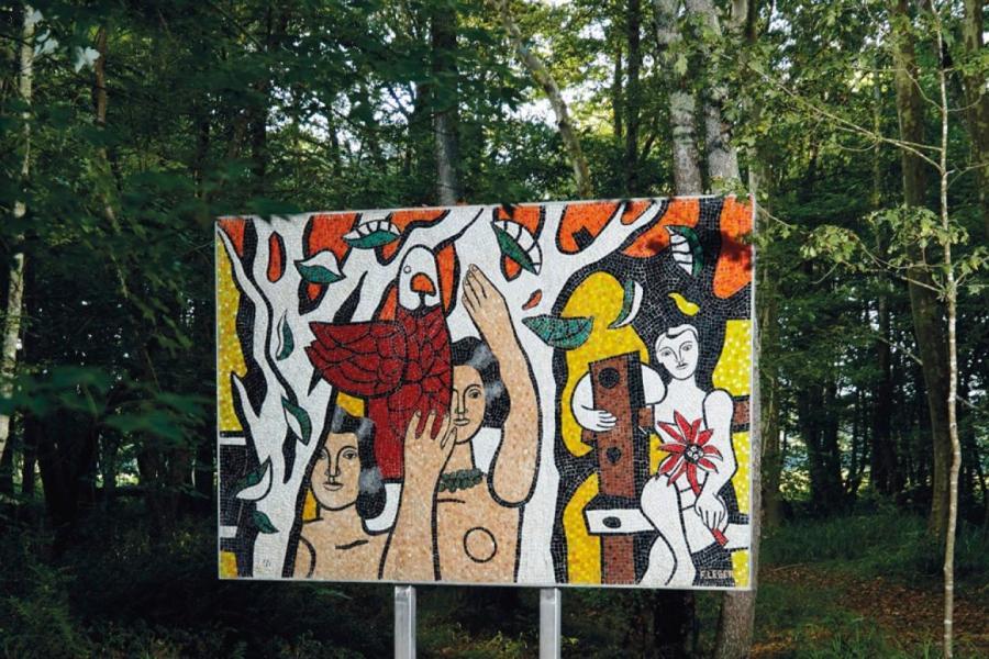 Мозаика по эскизам Фернана Леже «Женщины с попугаями», 1952