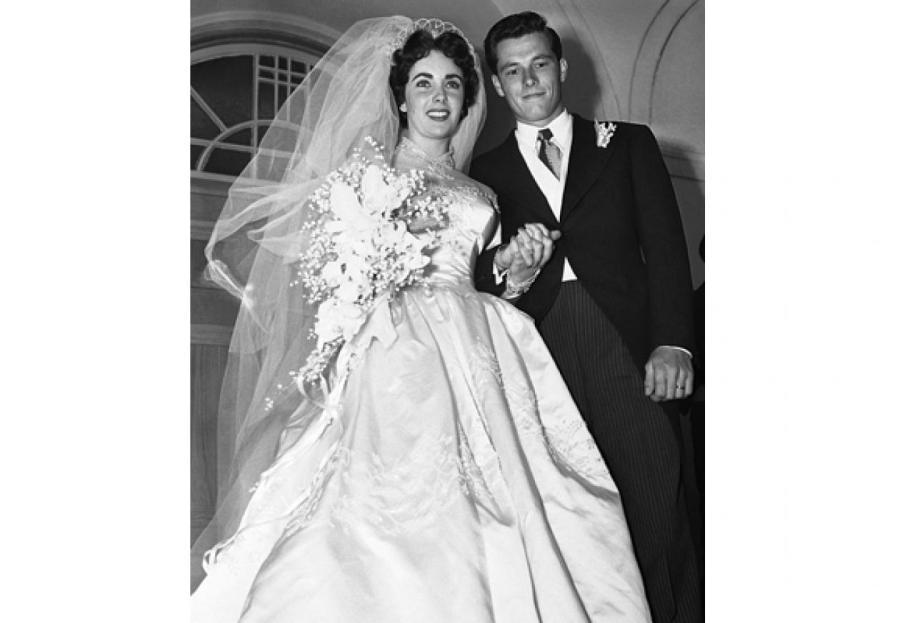 Свадьба Элизабет Тейлор и Конрада Хилтона младшего, 1950 год  Фото: Getty Images