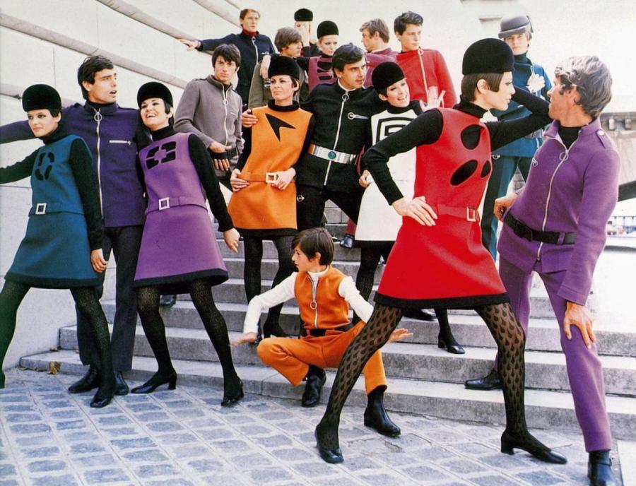 Коллекция Pierre Cardin Cosmocorp, 1967. Фото: Yoshi Takata  Архив Vogue