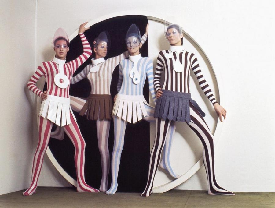 Кутюрная коллекция Pierre Cardin, 1968  Архив Vogue