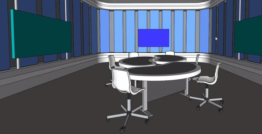 Проект студии цифрового вещания. Пока только на картинке.